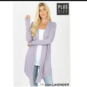 Plus Size Ash Lavender Cardigans